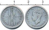 Изображение Монеты Родезия 3 пенса 1941 Серебро VF Георг VI