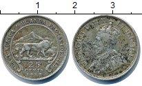 Изображение Монеты Уганда 25 центов 1912 Серебро VF Георг V