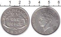 Изображение Монеты Сейшелы 1 рупия 1939 Серебро XF Георг VI.