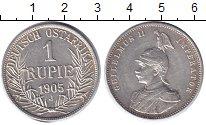 Изображение Монеты Немецкая Африка 1 рупия 1905 Серебро XF+ Вильгельм II