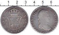 Изображение Монеты Испания 4 реала 1825 Серебро VF