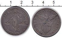 Изображение Монеты Филиппины 50 сентаво 1918 Серебро XF-