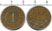 Изображение Монеты Дания 1 скиллинг 1860 Бронза XF