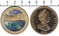 Изображение Монеты Остров Святой Елены 25 пенсов 2013 Латунь UNC Елизавета II.  Цифро