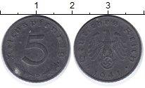 Изображение Монеты Третий Рейх 5 пфеннигов 1941 Цинк XF