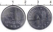 Изображение Монеты Бразилия 1 крузейро 1979 Сталь UNC