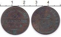 Изображение Монеты Пруссия 3 пфеннига 1860 Медь XF-