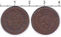 Изображение Монеты Нассау 1/4 крейцера 1812 Медь XF- Герб