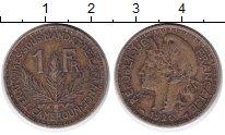Изображение Монеты Камерун 1 франк 1926 Латунь XF Французская колония