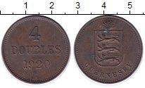 Изображение Монеты Гернси 4 дубля 1920 Бронза XF Гернси