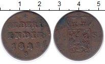 Изображение Монеты Нидерландская Индия 1/2 стюбера 1825 Медь VF