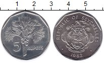Изображение Монеты Сейшелы 5 рупий 1982 Медно-никель UNC- Флора.