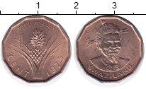 Изображение Монеты Свазиленд 1 цент 1975 Бронза UNC-