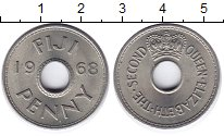 Изображение Монеты Фиджи 1 пенни 1968 Медно-никель UNC-