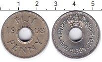 Изображение Монеты Фиджи 1 пенни 1968 Медно-никель XF