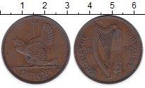 Изображение Монеты Ирландия 1 пенни 1937 Бронза XF Курица  с  цыплятами