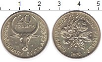 Изображение Монеты Мадагаскар 20 франков 1970 Латунь UNC-