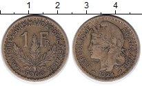 Изображение Монеты Того 1 франк 1924 Латунь XF