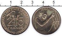Изображение Монеты Франция Французская Африка 25 франков 1980 Латунь UNC-