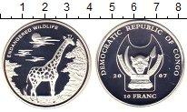 Изображение Монеты Конго 10 франков 2007 Посеребрение Proof