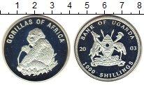 Изображение Монеты Уганда 1000 шиллингов 2003 Посеребрение Proof-