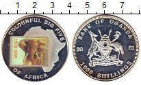 Изображение Монеты Уганда 1000 шиллингов 2001 Медно-никель Proof-