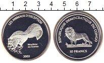 Изображение Монеты Конго 10 франков 2003 Серебро Proof Скунс.