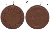 Изображение Монеты Веймарская республика 1 пфенниг 1925 Бронза VF E