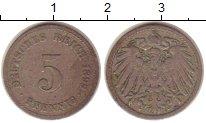 Изображение Монеты Германия 5 пфеннигов 1899 Медно-никель VF
