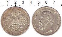 Изображение Монеты Баден 5 марок 1899 Серебро XF Фридрих