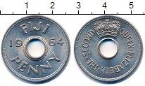 Изображение Монеты Фиджи 1 пенни 1964 Медно-никель UNC- Елизавета II