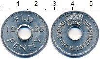 Изображение Монеты Фиджи 1 пенни 1966 Медно-никель UNC-