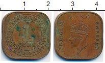 Изображение Монеты Великобритания Малайя 1 цент 1945 Бронза XF-