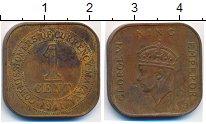 Изображение Монеты Малайя 1 цент 1941 Бронза XF-