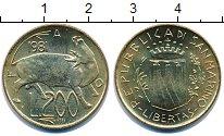 Изображение Монеты Сан-Марино 200 лир 1981 Латунь UNC-