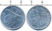 Изображение Монеты Сан-Марино 10 лир 1974 Алюминий UNC- ФАО