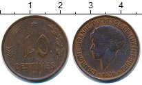 Изображение Монеты Люксембург 10 сантимов 1930 Бронза XF