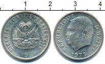 Изображение Монеты Гаити 5 сентим 1975 Медно-никель UNC-