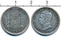 Изображение Монеты Испания 50 сентим 1904 Серебро XF Альфонсо XIII