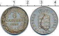 Изображение Монеты Вюртемберг 6 крейцеров 1840 Серебро VF