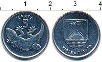 Изображение Монеты Кирибати 5 центов 1979 Медно-никель UNC Геккон.