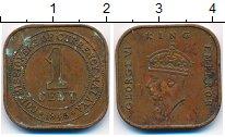 Изображение Монеты Малайя 1 цент 1945 Бронза XF-