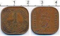 Изображение Монеты Великобритания Малайя 1 цент 1943 Бронза XF-