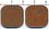 Изображение Монеты Малайя 1 цент 1943 Бронза XF-