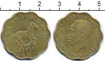 Изображение Монеты Танзания 10 сенти 1977 Латунь XF
