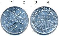 Изображение Монеты Сан-Марино 10 лир 1974 Медно-никель UNC-