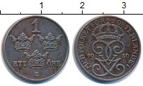 Изображение Монеты Швеция 1 эре 1950 Железо XF
