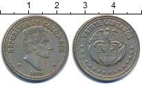 Изображение Монеты Колумбия 20 сентаво 1959 Медно-никель XF