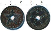 Изображение Монеты Бельгийское Конго 2 сантима 1888 Медь XF
