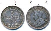 Изображение Монеты Канада Ньюфаундленд 5 центов 1917 Серебро XF-